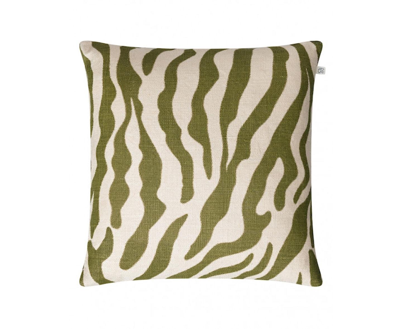 Chhatwal & Jonsson Zebra Linen Kuddfodral Cactus Green 50x50