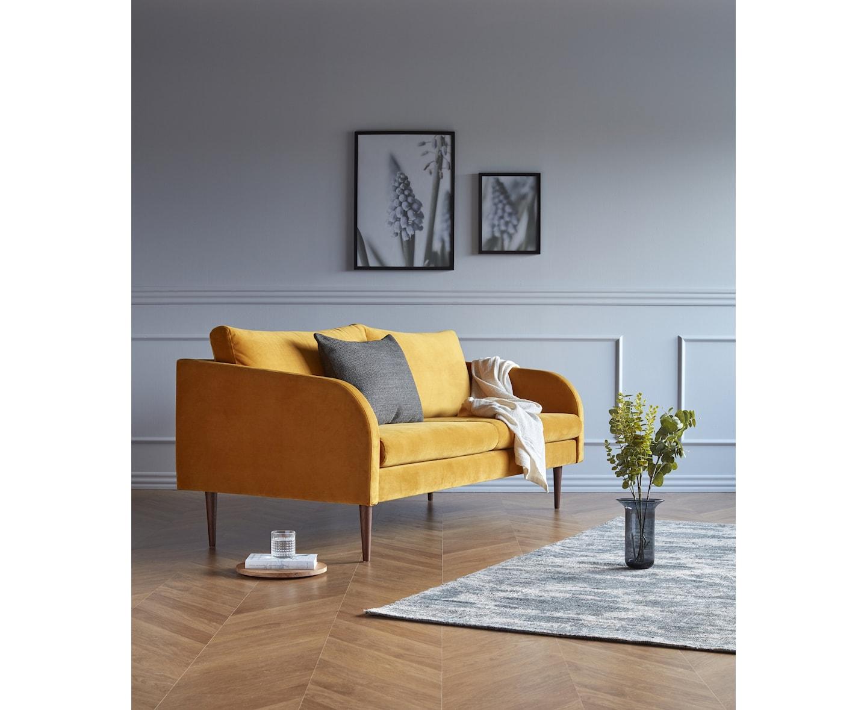 Kragelund Husum 3-sits Soffa Sammet Ocre 200cm