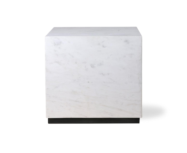 HKliving Block Marmorbord Vit 35x33