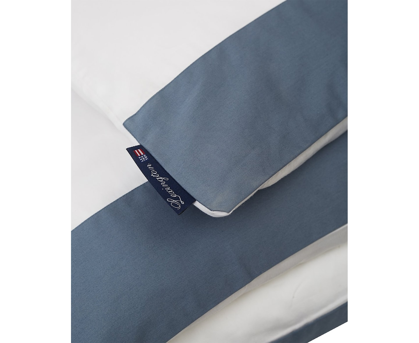 Lexington Contrast Sateen Påslakan Steel Blue 150x210